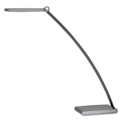Alba - LEDTOUCH - LED TOUCH Desk Lamp with Touch Dimmer, 2w x 21h, Dark Silver