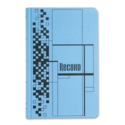 Adams Business Forms - ARB712CR5 - Record Ledger Book, Blue Cloth Cover, 500 7 1/4 x 11 3/4 Pages