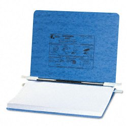 Acco Brands - A7054032 - ACCO PRESSTEX Covers with Storage Hooks, For Unburst Sheets, 11 3/4 x 8 1/2 Sheet Size - 6 Binder Capacity - 8 1/2 x 11 3/4 Sheet Size - Light Blue - Recycled - 1 / Each