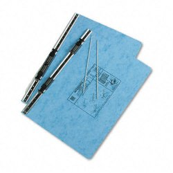 Acco Brands - A7054042 - ACCO PRESSTEX Covers w/ Hooks, Unburst 14 7/8 x 8 1/2 Sheets, Light Blue - 6 Binder Capacity - 8 1/2 x 14 7/8 Sheet Size - Light Blue - Recycled - 1 / Each