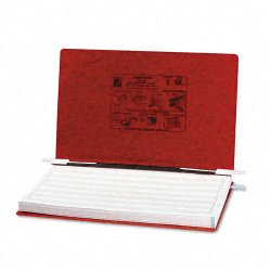 Acco Brands - A7054049 - ACCO PRESSTEX Covers w/ Hooks, Unburst 14 7/8 x 8 1/2 Sheets, Executive Red - 6 Binder Capacity - 8 1/2 x 14 7/8 Sheet Size - Executive Red - Recycled - 1 / Each