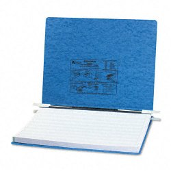 Acco Brands - A7054072 - ACCO PRESSTEX Covers w/ Hooks, Unburst 14 7/8 x 11 Sheets, Light Blue - 6 Binder Capacity - Fanfold - 11 x 14 7/8 Sheet Size - Light Blue - Recycled - 1 / Each