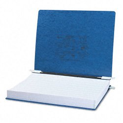 Acco Brands - A7054073 - ACCO PRESSTEX Covers w/ Hooks, Unburst 14 7/8 x 11 Sheets, Dark Blue - 6 Binder Capacity - Fanfold - 11 x 14 7/8 Sheet Size - Dark Blue - Recycled - 1 / Each