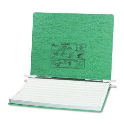 Acco Brands - A7054075 - ACCO PRESSTEX Covers w/ Hooks, Unburst 14 7/8 x 11 Sheets, Light Green - 6 Binder Capacity - Fanfold - 11 x 14 7/8 Sheet Size - Light Green - Recycled - 1 / Each