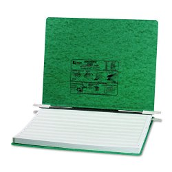 Acco Brands - A7054076 - ACCO PRESSTEX Covers w/ Hooks, Unburst 14 7/8 x 11 Sheets, Dark Green - 6 Binder Capacity - Fanfold - 11 x 14 7/8 Sheet Size - Dark Green - Recycled - 1 / Each