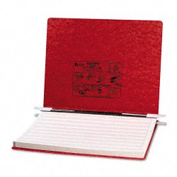 Acco Brands - A7054079 - ACCO PRESSTEX Covers w/ Hooks, Unburst 14 7/8 x 11 Sheets, Executive Red - 6 Binder Capacity - Fanfold - 11 x 14 7/8 Sheet Size - Executive Red - Recycled - 1 / Each