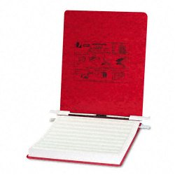 Acco Brands - A7054119 - ACCO PRESSTEX Covers w/ Hooks, Unburst, 9 1/2 x 11 Sheets, Executive Red - 6 Binder Capacity - 9 1/2 x 11 Sheet Size - Executive Red - Recycled - 1 / Each