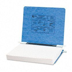 Acco Brands - A7054122 - ACCO PRESSTEX Covers w/ Hooks, For Unburst Sheets, 11 x 8 1/2, Light Blue - 6 Binder Capacity - Letter - 8 1/2 x 11 Sheet Size - Light Blue - Recycled - 1 / Each