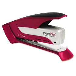 Accentra - 1117 - inPOWER+ 28 Premium Desktop Stapler, 28-Sheet Capacity, Red/Silver