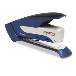 Accentra - 1118 - inPOWER+ 28 Premium Desktop Stapler, 28-Sheet Capacity, Blue/Silver