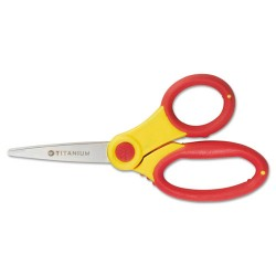 Acme United - ACM15986 - Titanium Bonded Kids Scissors, 5 Long, Rounded, Assorted Colors