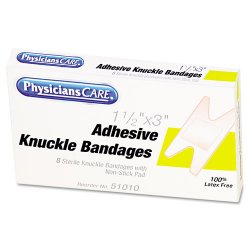 Acme United - 51010 - First Aid Fabric Knuckle Bandages, Box of 8