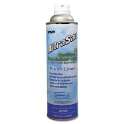 Misty - 1037236 - Handheld Air Sanitizer/Deodorizer, Fresh Linen, 10oz, Aerosol, 12/Carton