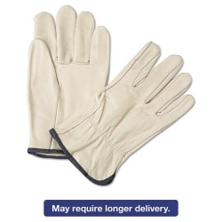 Anchor Brand - 101-4000L - 4000 Series Leather Driver Gloves, White, Large, 12 Pairs