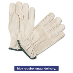 Anchor Brand - 101-4000M - 4000 Series Leather Driver Gloves, White, Medium, 12 Pairs