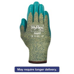 Ansell-Edmont - 012-11-501-8 - HyFlex 501 Medium-Duty Gloves, Size 8, Kevlar/Nitrile, Blue/Green, 12 Pairs