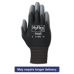 Ansell-Edmont - 012116008BK - HyFlex Lite Gloves, Black/Gray, Size 8, Dozen