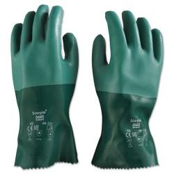 Ansell-Edmont - 012-8-352-10 - Scorpio Neoprene Gloves, Green, Size 10, 12 Pairs