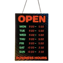 Artistic - 34110 - Programmable Open Sign with Business Hours, 26 x 18, Red/Green