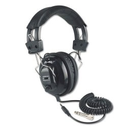 AmpliVox - sl1002 - AmpliVox SL1002 Stereo Headphone - Stereo - Black - Wired - Over-the-head - Binaural - Ear-cup - 6 ft Cable