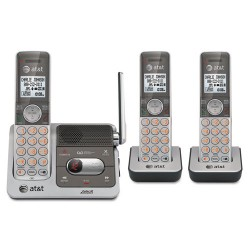 AT&T - CL82301 - ATT 3 Handset Answering System, CL82301, With Caller ID/ Call Waiting, Silver/Grey