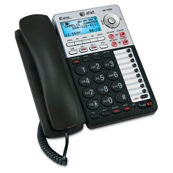 AT&T - ML17939 - AT&T ML17939 2-Line Corded Office Phone System with Answering Machine and Caller ID/Call Waiting, Black - Corded - 2 x Phone Line - Speakerphone - Answering Machine