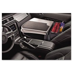AutoExec - 10000 - AutoExec GripMaster 01 10000 Auto Desk Organizer with Slide-Out Desk - 11 Height x 17 Width x 25.3 Depth - Vehicle Mount - Dark Gray, Light Gray Body - 1Each