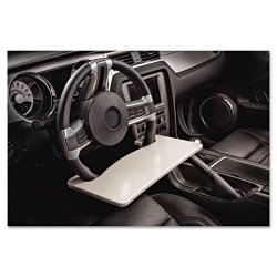 AutoExec - 13000 - AutoExec WheelMate Steering Wheel Auto Desk - 0.5 Height x 15 Width x 8.5 Depth - Vehicle Mount - Gray - Wood - 1Each