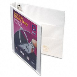 Avery Dennison - 01318 - 1 Heavy Duty Binder, White, 275-Sheet Capacity