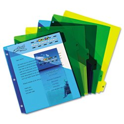 Avery Dennison - 11295 - Preprinted Plastic Tab Dividers w/Double Pockets, 6-Tab, 11 x 9