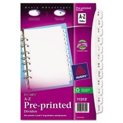 Avery Dennison - 11313 - Preprinted Tab Dividers, 12-Tab, 8 1/2 x 5 1/2