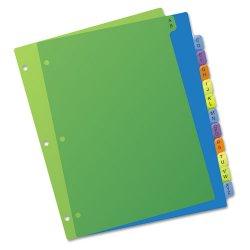 Avery Dennison - 11330 - Preprinted Plastic Tab Dividers, 12-Tab, Letter