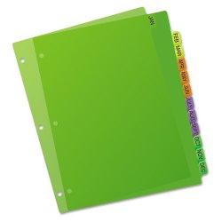 Avery Dennison - 11331 - Preprinted Plastic Tab Dividers, 12-Tab, Letter