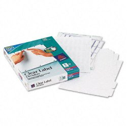 Avery Dennison - 11446 - Print & Apply Clear Label Dividers w/White Tabs, 5-Tab, Letter, 25 Sets