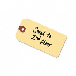 Avery Dennison - 12305 - Unstrung Shipping Tags, 13-pt. Stock, 4 3/4 x 2 3/8, Manila, 1, 000/Box