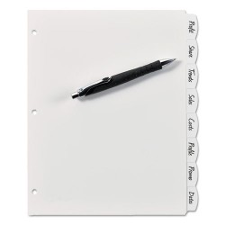 Avery Dennison - 7278216371 - Write-On Big Tab Plastic Dividers, 8-Tab, Letter