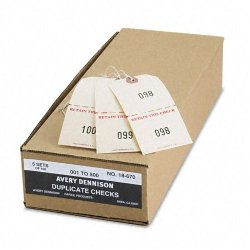 Avery Dennison - 18670 - Duplicate Auto Park Tags, 1-500, 4 3/4 x 2 3/8, Manila, 500/Box
