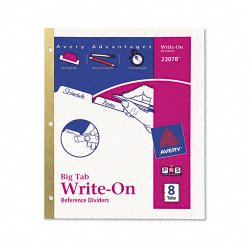 Avery Dennison - 23078 - Write-On Tab Index Divider, White, 1EA