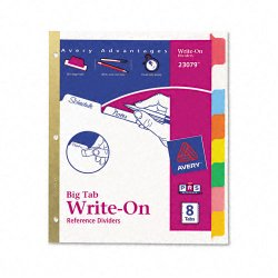 Avery Dennison - 23079 - Write-On Tab Index Divider, Multicolor, 1EA