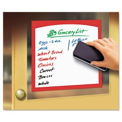 Avery Dennison - 24319 - Peel & Stick Dry Erase Sheets, Border Sheets, 8-1/2 x 11, White/Asst., 4/Pack