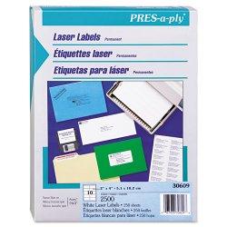 Avery Dennison - 67933 - Laser Shipping Labels, 2 x 4, White, 2500/Box