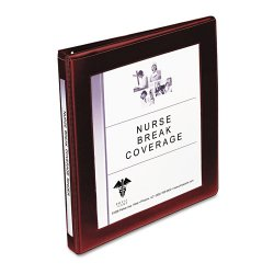 "Avery Dennison - 68027 - Maroon Framed View Heavy Duty Binder, 1/2"" Slant, Vinyl"