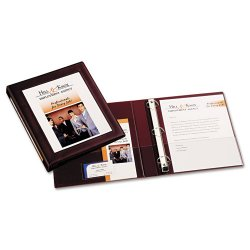"Avery Dennison - 68029 - Framed View Heavy-Duty Binder w/Locking 1-Touch EZD Rings, 1"" Cap, Maroon"