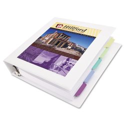 "Avery Dennison - 68036 - Framed View Heavy-Duty Binder w/Locking 1-Touch EZD Rings, 2"" Cap, White"