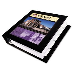 "Avery Dennison - 68037 - Framed View Heavy-Duty Binder w/Locking 1-Touch EZD Rings, 3"" Cap, Black"