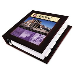 "Avery Dennison - 68040 - Maroon Framed View Heavy Duty Binder, 3"" D-Ring, Vinyl"