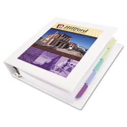 "Avery Dennison - 68041 - Framed View Heavy-Duty Binder w/Locking 1-Touch EZD Rings, 3"" Cap, White"