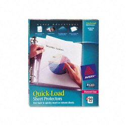 Avery Dennison - 73802 - Quick Top & Side Loading Sheet Protectors, Letter, Diamond Clear, 50/Box