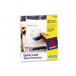 Avery Dennison - 73803 - Quick Top & Side Loading Sheet Protectors, Letter, Non-Glare, 50/Box
