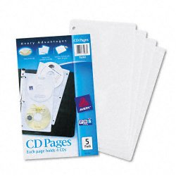 Avery Dennison - 75263 - Two-Sided CD Organizer Sheets for Three-Ring Binder, 5/Pack